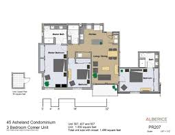 3 floor plan residences condo floor plans 45 asheland asheville nc