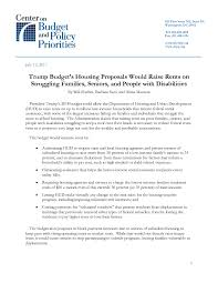 trump budget u0027s housing proposals would raise rents on struggling