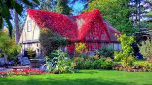Landscape House Houses Fantastic Red Vine Covered Country Home Canada View Royal