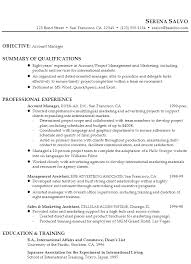 resume example for a account manager in sales marketing