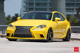 lexus vossen wheels lfa yellow lexus is 350 sits on vossen wheels autoevolution