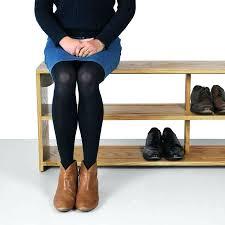 hall shoe storage bench seat shabby chic white shoe storage bench