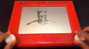 batman portrait etch a sketch time lapse youtube