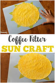 coffee filter sun craft look we u0027re learning