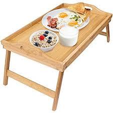 breakfast table amazon com greenco bamboo foldable breakfast table laptop desk