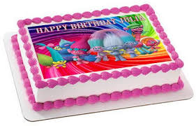 birthday cake toppers trolls edible cake topper cupcake toppers edible prints on