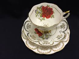 china with roses china roses tea trio