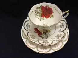 china with roses china roses tea trio