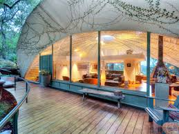 looking into a dome house in austin tx designed in 1978 by john
