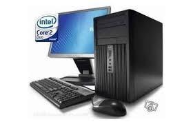 ordinateur de bureau complet pc de bureau hp 2 duo complet