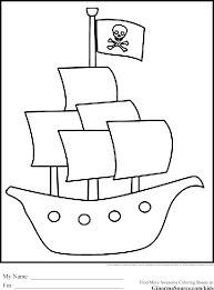 pirate ship outline coloring page free download
