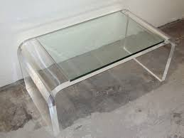 lucite waterfall coffee table console table acrylic waterfall coffee table modern affordable