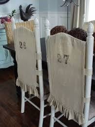 Chair Back Covers For Dining Room Chairs No Sew Chair Back Slipcover For Dining Room Chairs Diy Home