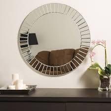 amazon com decor wonderland the glow modern frameless wall mirror