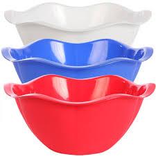 scalloped large plastic serving bowls cchomegifts