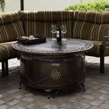 round propane fire pit table fire pit tables you ll love wayfair