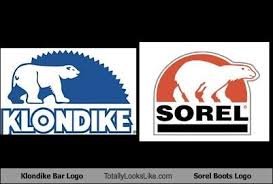 Klondike Bar Meme - klondike bar logo totally looks like sorel boots logo totally