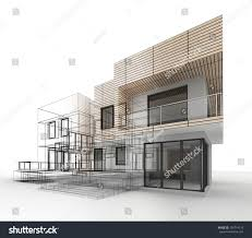house design progress architecture drawing visualization stock