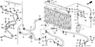 honda accord radiator fluid transmission coolant lines