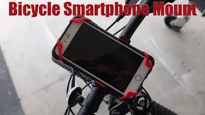 bicycle handlebar smartphone holder review youtube