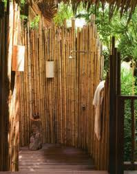 Outdoor Shower Ideas Bamboo Privacy Screen For Modern Outdoor Shower Ideas Using Rustic