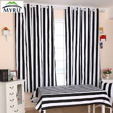 rideaux de chambre myru de nombreux taille tissu rideau noir et blanc é rideaux