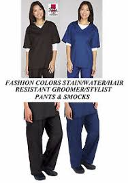 hair fashion smocks stylist groomer barber hair water stain resistant smock pant shirt