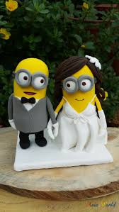 minion wedding cake topper minions wedding cake topper clay doll minion in suit clay