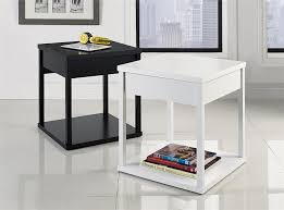 amazon com parsons end table with drawer black kitchen u0026 dining