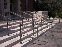 outdoor stair railing kits with modern outdoor metal ada stair