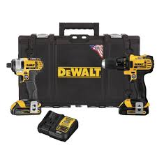 punch home design power tools dewalt 18 volt nicd cordless drill driver and impact driver combo