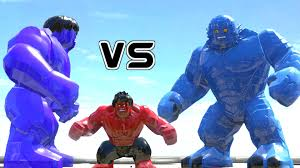 blue hulk bomb red hulk battle lego marvel super