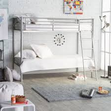 Two Floor Bed by Duro Hanley Full Over Full Bunk Bed Silver Hayneedle