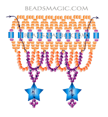 free pattern for necklace firework ruffles beads magic u need