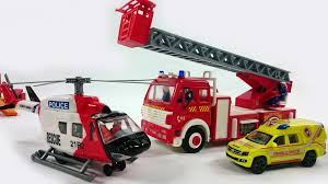 kids toys fire rescue team fire engine truck police ambulance