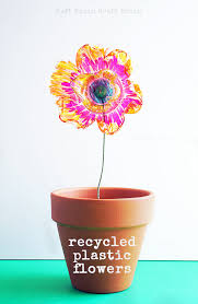 Plastic Flowers Recycled Plastic Flowers Art And Science Project Left Brain