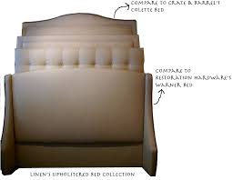 Cushioned Headboards For Beds by Lovable Crate And Barrel Headboard Inexpensive Upholstered Beds