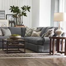 Grey Sofa Sectional by Sutton L Shaped Sectional Living Room Furniture Bassett Furniture