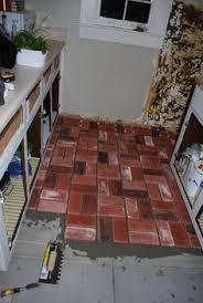 Diy Kitchen Floor Ideas Flooring Ideas On Pinterest Bricks Herringbone And Floors