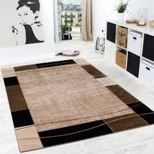 teppich für wohnzimmer designer teppich wohnzimmer teppich modern bordüre in braun beige