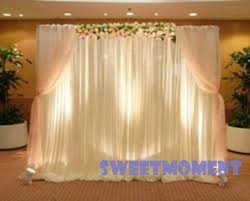 wedding backdrop curtains aliexpress buy wedding drape pipe for wedding decoration