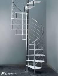 flo 160 spiral staircase with steps and uprights in ral colour