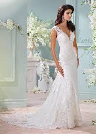 beautiful hand beaded lace v neck wedding dress 116204 dayton