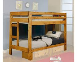 Twin Over Twin Loft Bed by Coaster Furniture Twin Over Twin Bunk Bed Wrangle Hill Co460243