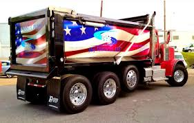 Custom Car Flag J U0026j Dump Truck Bed Wrap American Flag Graphics Signworks Custom