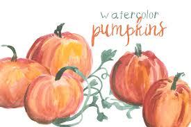 halloween pumpkin transparent background watercolor pumpkins illustrations creative market