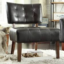 Accent Chairs Living Room by Homesullivan Dark Brown Vinyl Accent Chair 40850s451w 3a The
