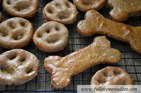 recipes for dog treats dog treats paw and bone shaped biscuits thyme