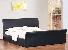 King Size Leather Sleigh Bed Davinci Ottoman Storage Sleigh Beds 5ft Kingsize Black