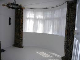 Curtains Co Bradleys 25mm Ceiling Fix Bay Window Curtain Pole And Morris U0026 Co